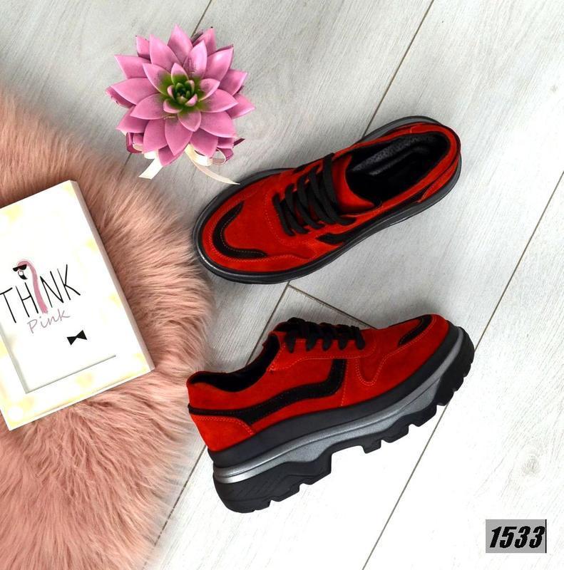 Эффектные замшевые кроссовки в стиле известного бренда на масс...