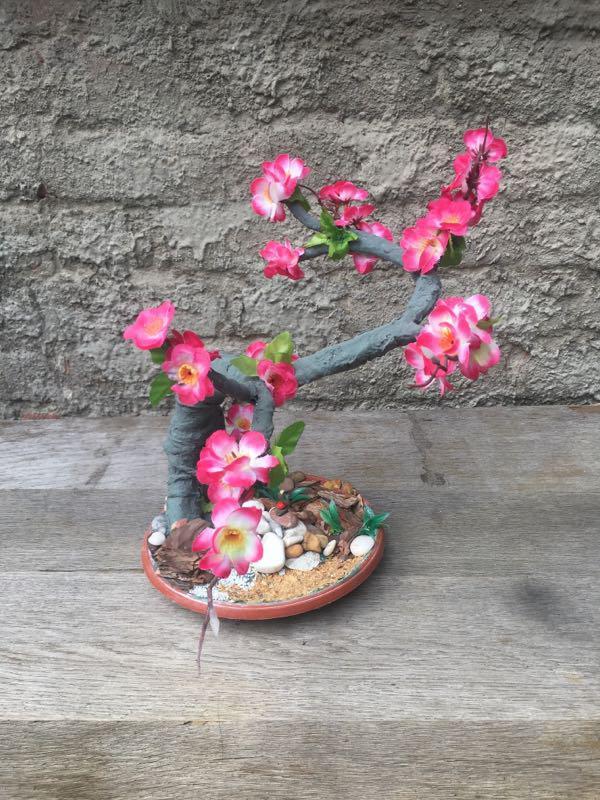 Искусственное дерево бонсай сакура - Фото 2