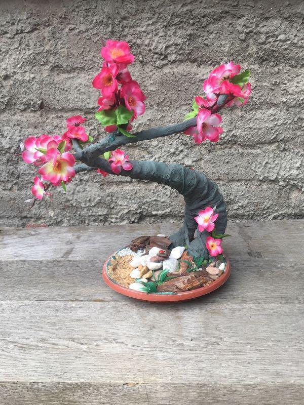 Искусственное дерево бонсай сакура - Фото 3