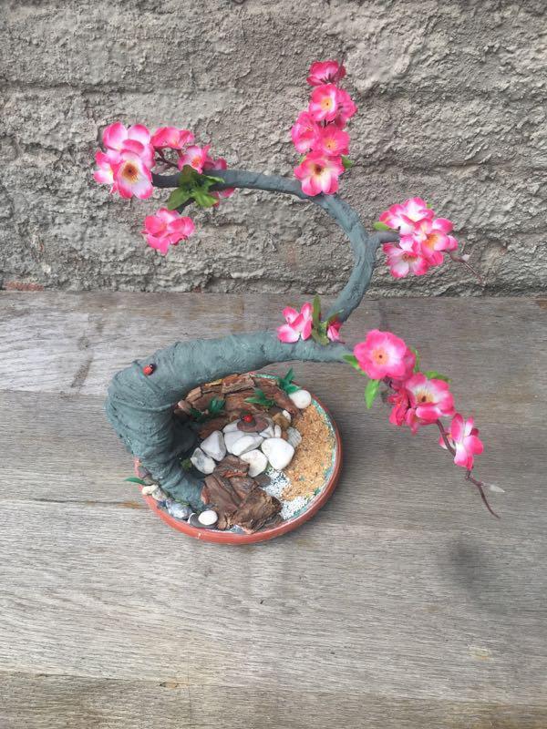 Искусственное дерево бонсай сакура - Фото 4