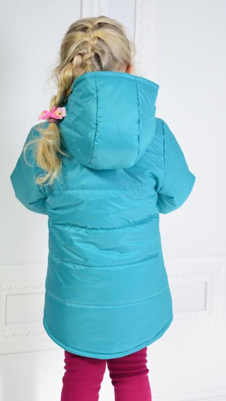 Демисезонная курточка анжела для девочки - Фото 2