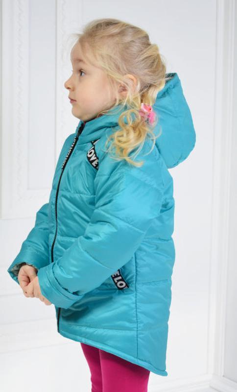 Демисезонная курточка анжела для девочки - Фото 3