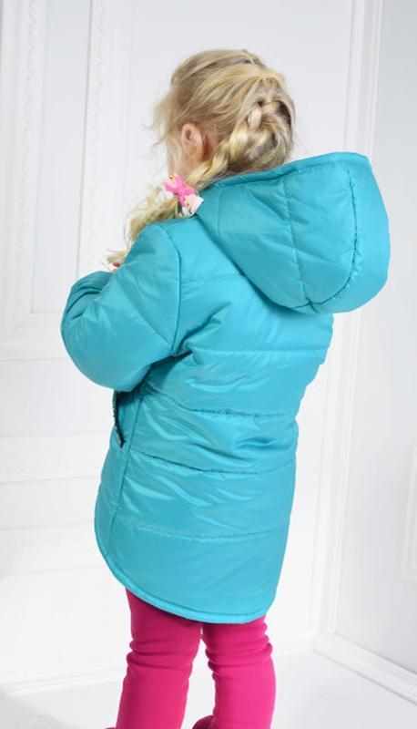 Демисезонная курточка анжела для девочки - Фото 4