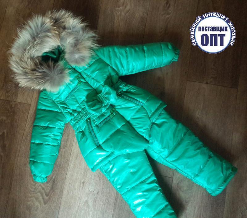 Зимний термо комплект курточка и полукомбинезон для девочки - Фото 3