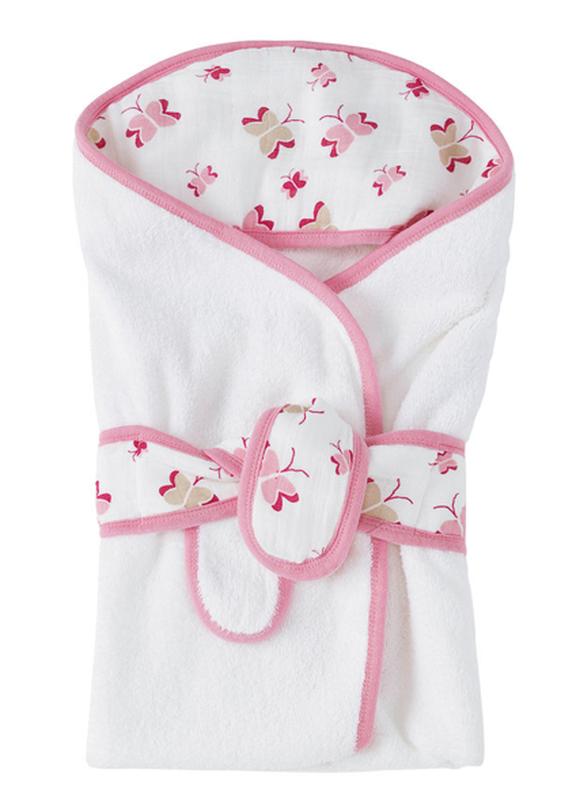 Полотенце халатик с капюшоном для девочки Aden Anais, 76 х 94 см