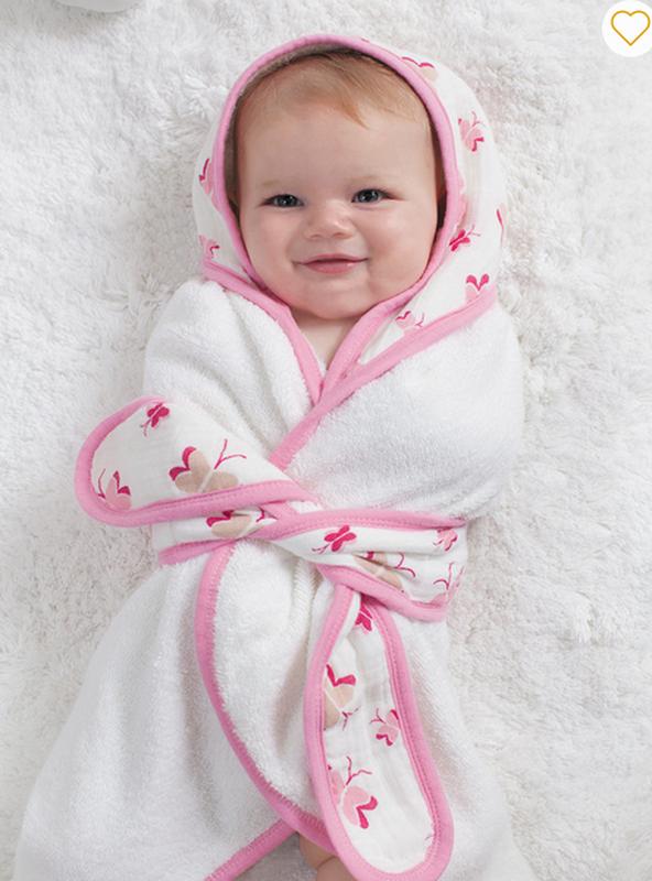 Полотенце халатик с капюшоном для девочки Aden Anais, 76 х 94 см - Фото 2