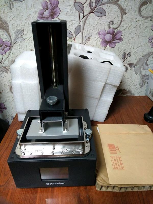 Новый фотополимерный 3д принтер Alfawise w10. LCD UV 3d принтер. - Фото 2