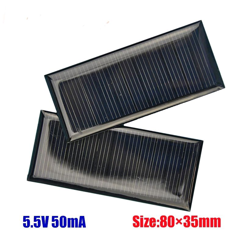 Солнечная батарея панель solar 5.5v/50mA