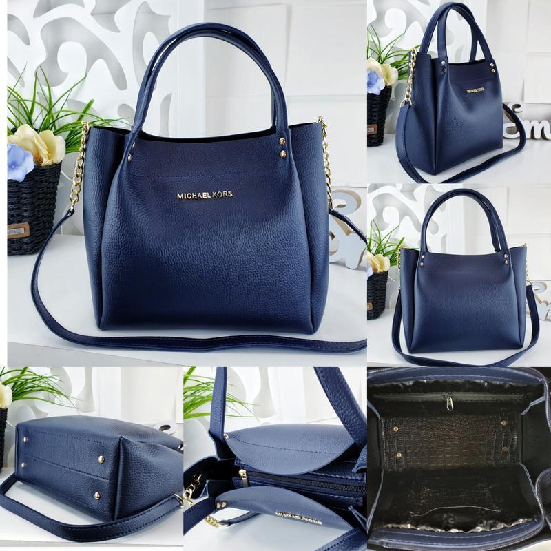 Женская сумка синяя - Фото 2