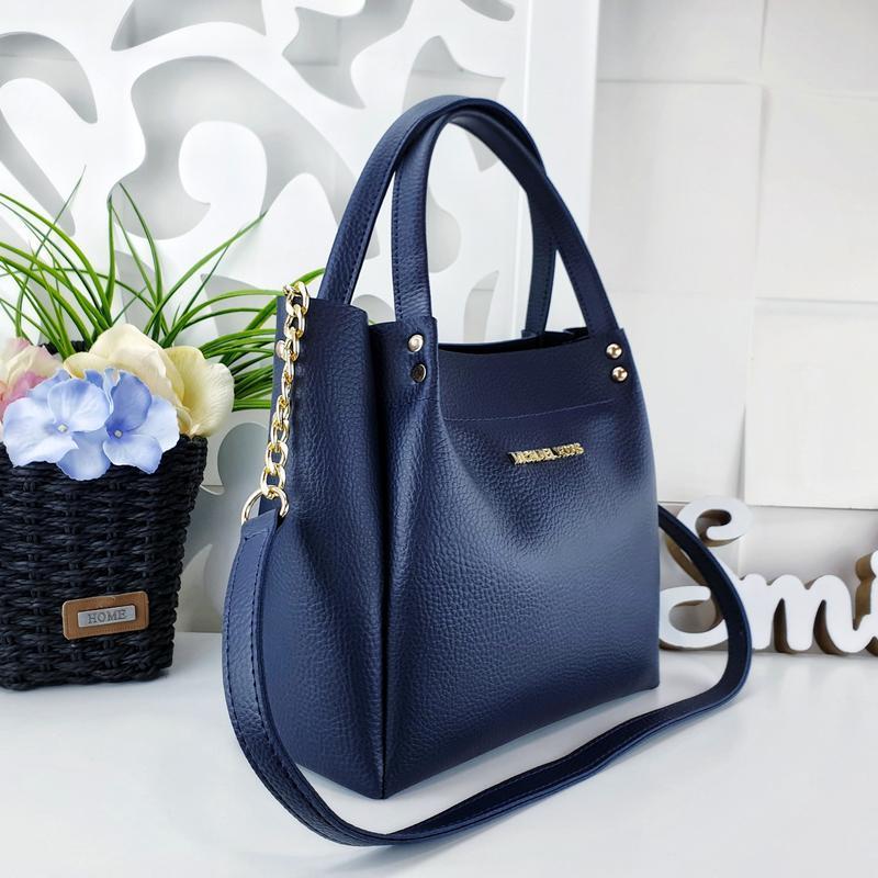 Женская сумка синяя - Фото 3