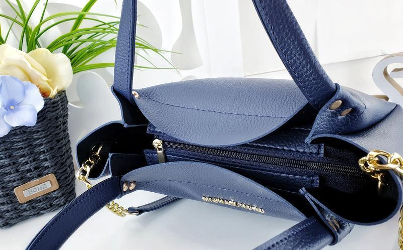 Женская сумка синяя - Фото 4