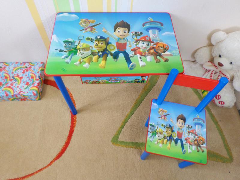 """Детский столик с ящичком и стульчик """" Щенячий Патруль """" стол стул - Фото 2"""