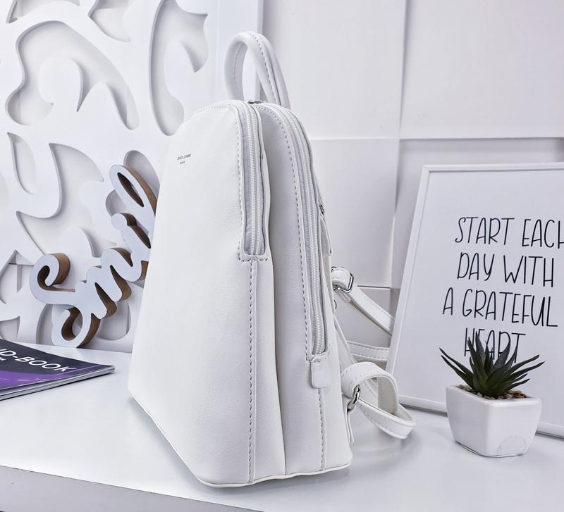 Рюкзак белый - Фото 4