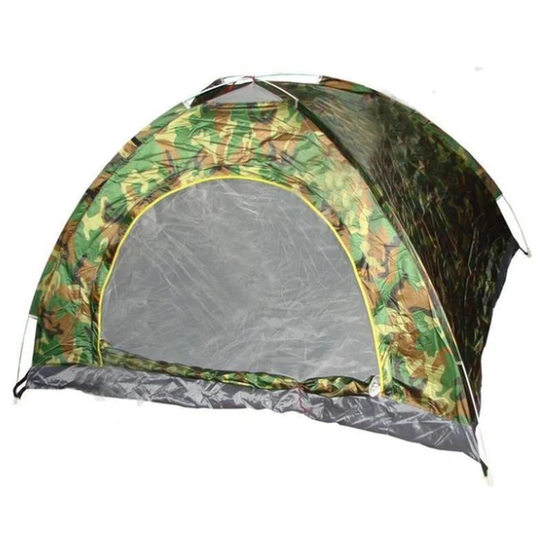 Палатка туристическая двухместная автомат камуфляж - Фото 2