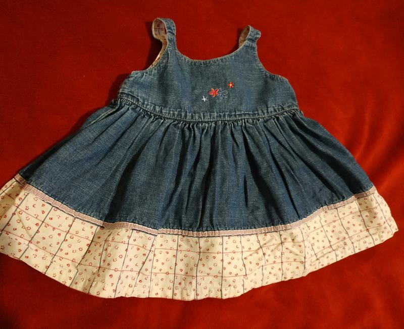 Джинсовое платье mark&spencer 70-80р. сарафан