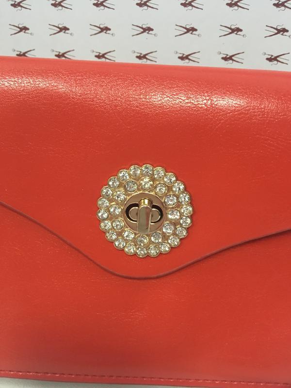 Женская маленькая красная сумочка код 1612 - Фото 2