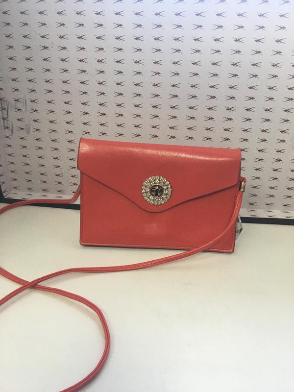 Женская маленькая красная сумочка код 1612 - Фото 4