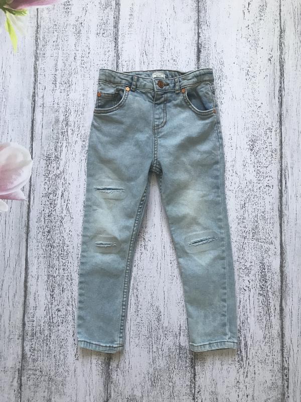 Крутые джинсы штаны брюки river island 4-5 лет