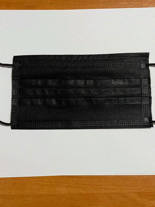 Медицинские защитные маски для лица черные - Фото 2