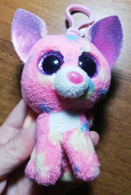 Брелок мягкий розовая собачка - Фото 3