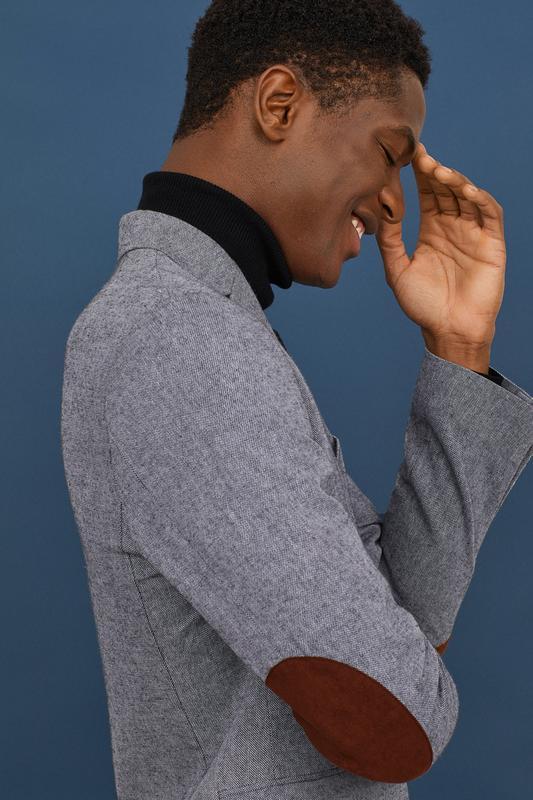 Хлопковый пиджак h&m premium quality , slim fit!
