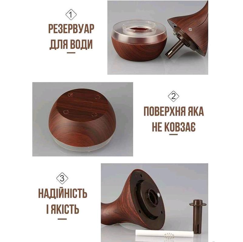 Увлажнитель воздуха аромадиффузор Humidifier ночник - Фото 3