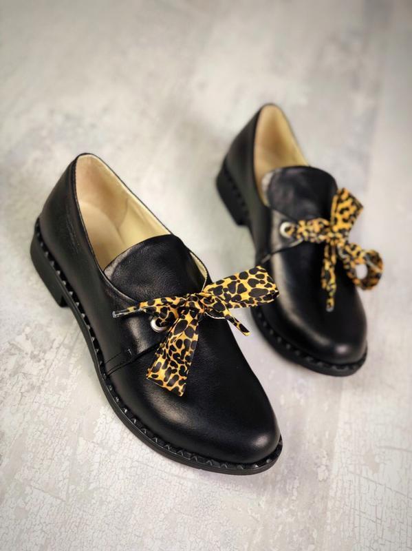 Кожаные туфли лодочки балетки с узким носком с отрым носком с ...