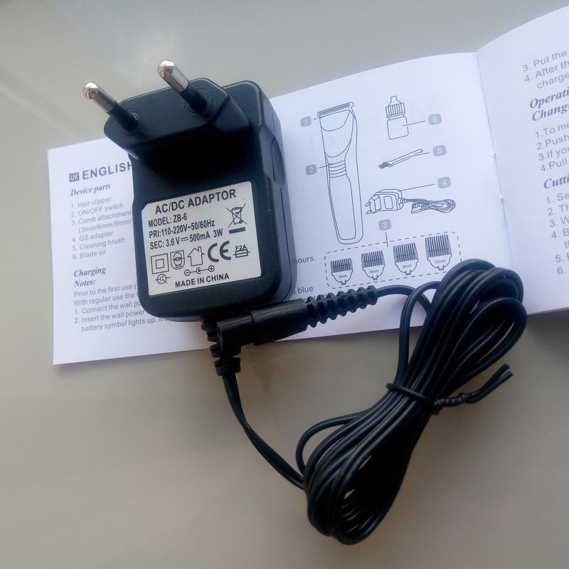 Беспроводная\аккумуляторная машинка для стрижки Gemei GM-829 - Фото 12