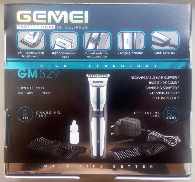 Беспроводная\аккумуляторная машинка для стрижки Gemei GM-829 - Фото 2