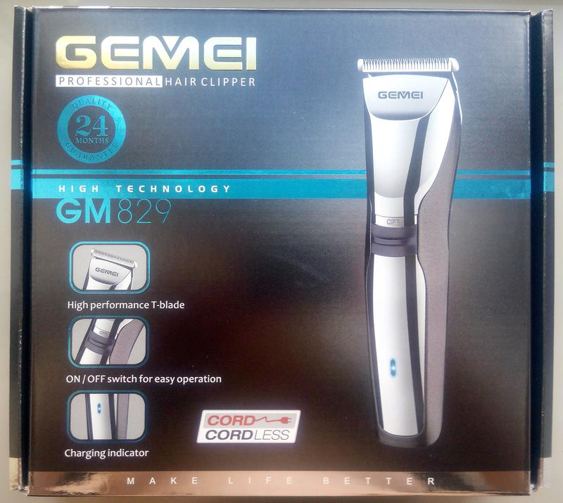 Беспроводная\аккумуляторная машинка для стрижки Gemei GM-829 - Фото 6