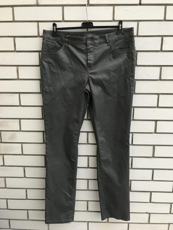 Серые брюки,штаны,джинсы с пропиткой под кожу,большой размер, ...