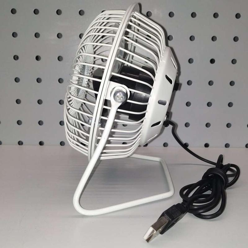 Мини вентилятор настольный маленький от USB - Фото 3