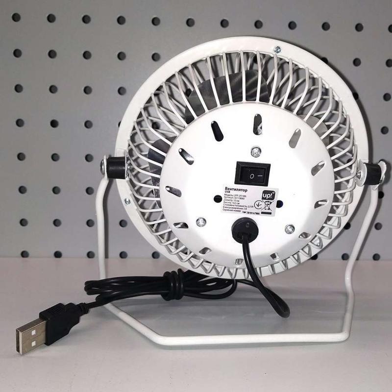 Мини вентилятор настольный маленький от USB - Фото 4