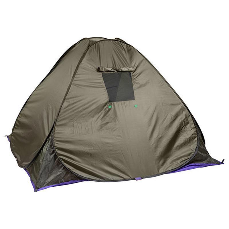 Палатка летняя автомат туристическая походная трехместная 2х2х1.3 - Фото 2