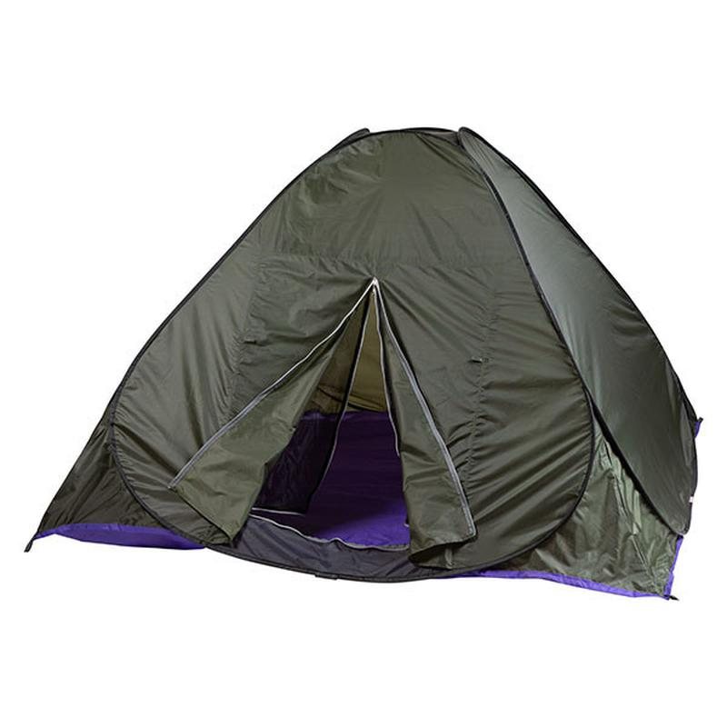 Палатка летняя автомат туристическая походная трехместная 2х2х1.3 - Фото 3