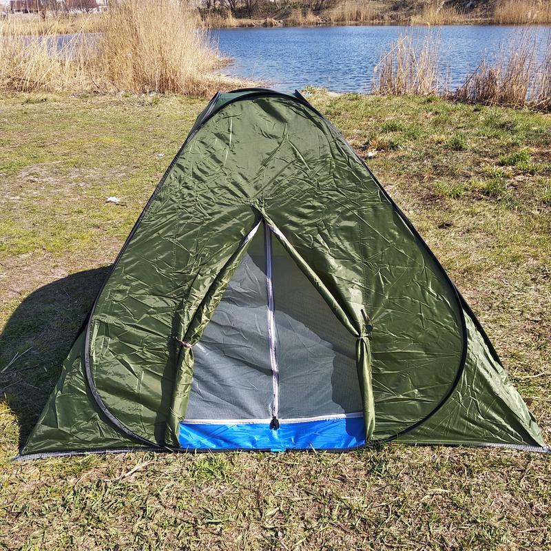 Палатка летняя автомат туристическая походная трехместная 2х2х1.3 - Фото 6