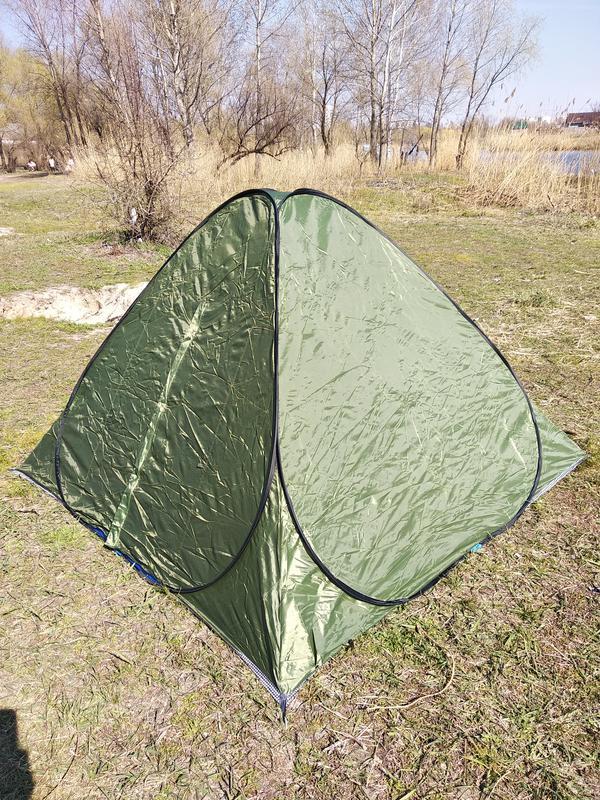 Палатка летняя автомат туристическая походная трехместная 2х2х1.3 - Фото 7