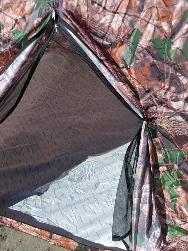 Палатка автомат зимняя летняя четырёхместная 2.5х2.5х1.8 м - Фото 3