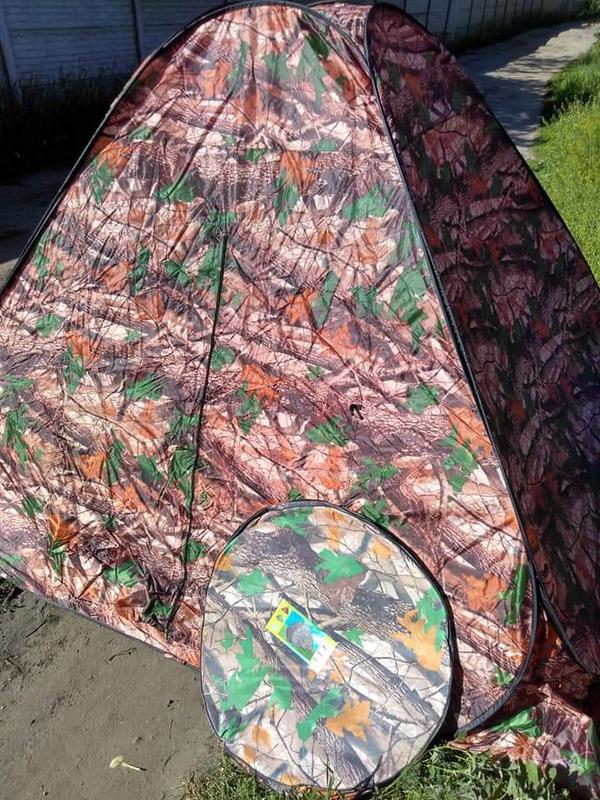 Палатка автомат зимняя летняя четырёхместная 2.5х2.5х1.8 м - Фото 4