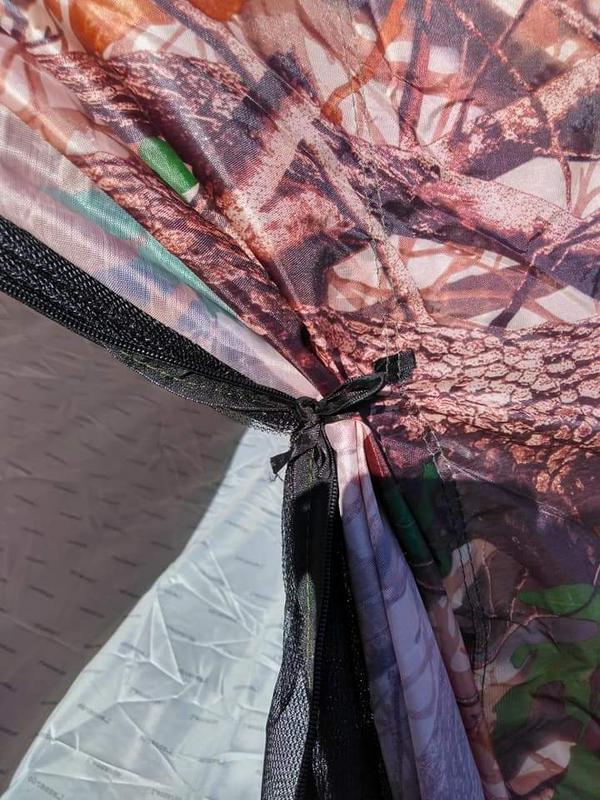 Палатка автомат зимняя летняя четырёхместная 2.5х2.5х1.8 м - Фото 5