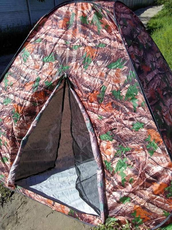 Палатка автомат зимняя летняя четырёхместная 2.5х2.5х1.8 м - Фото 7