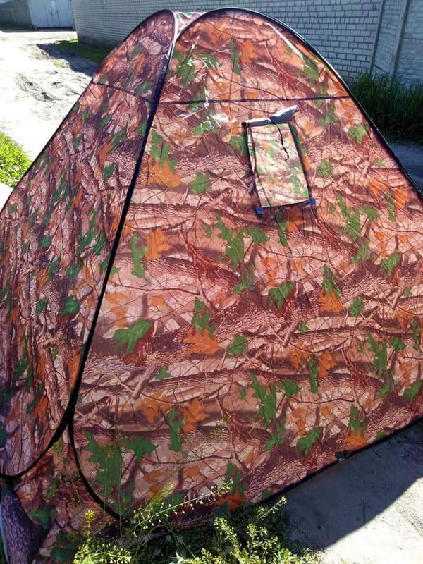 Палатка автомат зимняя летняя четырёхместная 2.5х2.5х1.8 м - Фото 9