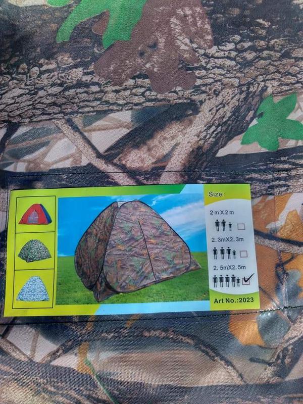 Палатка автомат зимняя летняя четырёхместная 2.5х2.5х1.8 м - Фото 10
