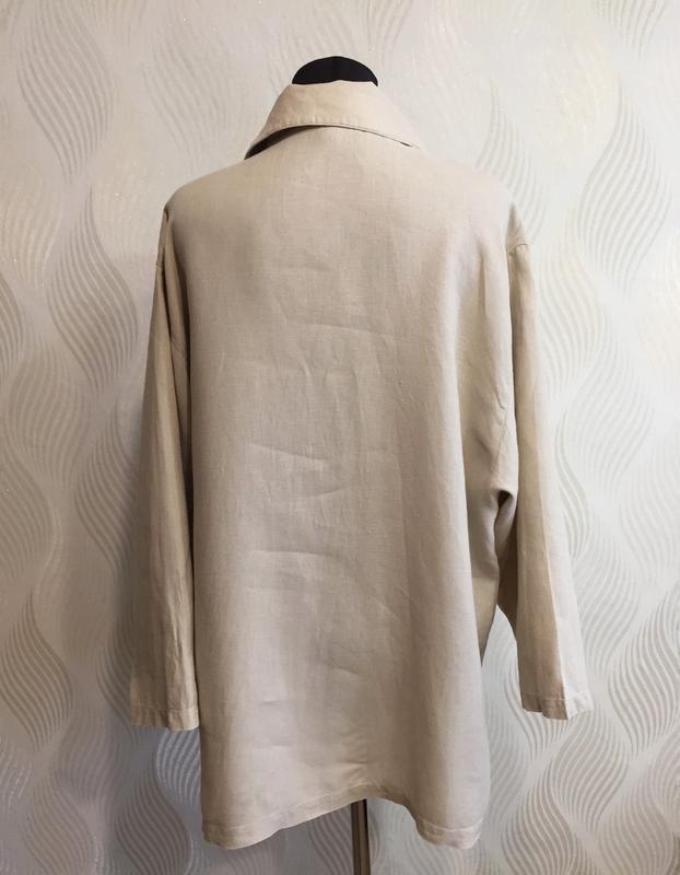 Стильная оверсайз льняная рубашка spengler plus - Фото 5