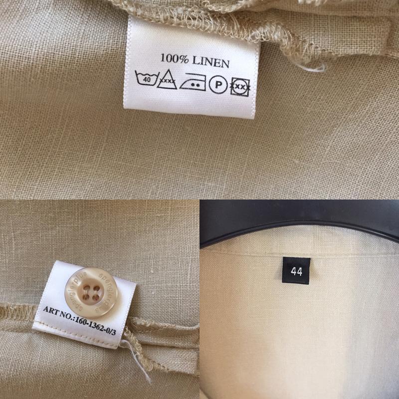Стильная оверсайз льняная рубашка spengler plus - Фото 10