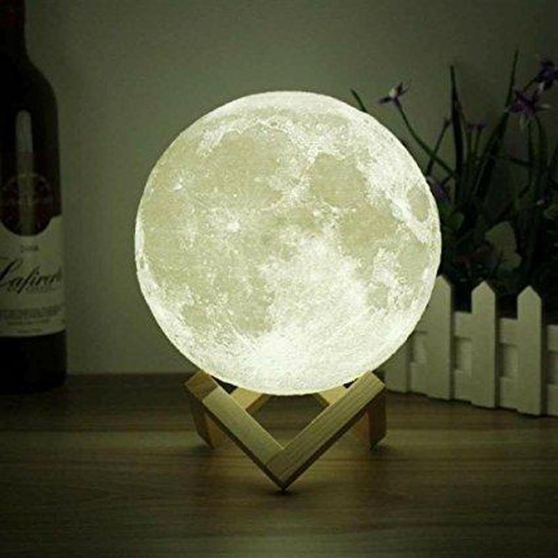 Ночник 3D светильник луна Moon Touch Control 15 см, 5 режимов - Фото 2