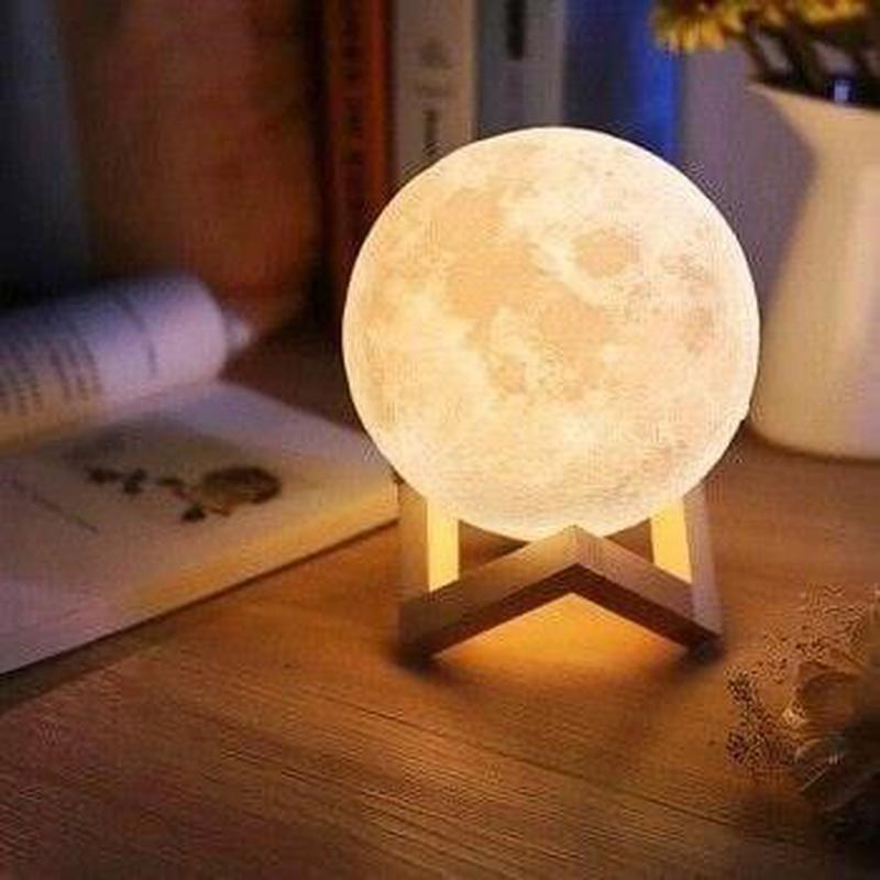 Ночник 3D светильник луна Moon Touch Control 15 см, 5 режимов - Фото 3