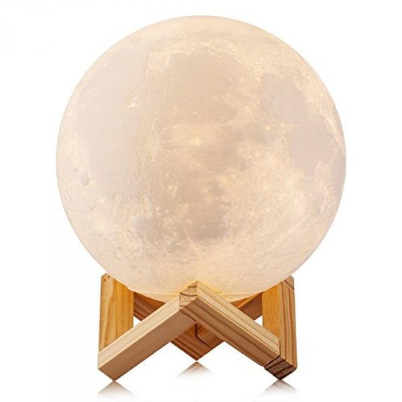 Ночник 3D светильник луна Moon Touch Control 15 см, 5 режимов - Фото 4