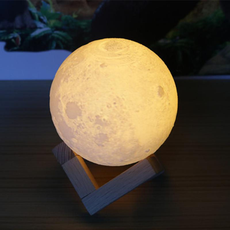 Ночник 3D светильник луна Moon Touch Control 15 см, 5 режимов - Фото 7
