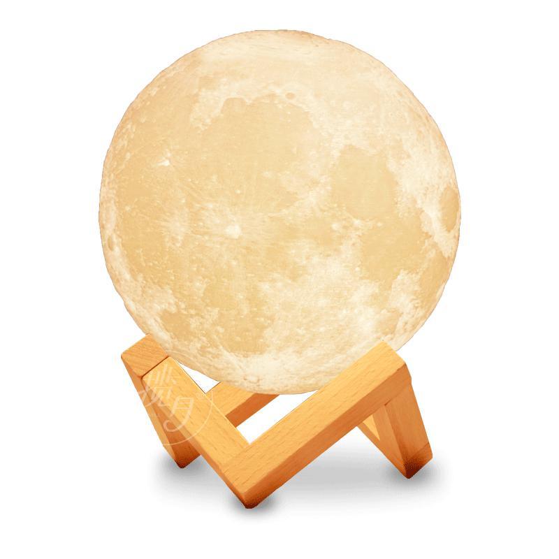 Ночник 3D светильник луна Moon Touch Control 15 см, 5 режимов - Фото 8